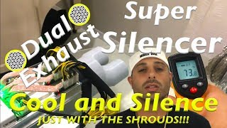 soundproofing antminer s9 cooling experiment silencer custom fan shroud  testing dual exhaust 4 inch - getplaypk
