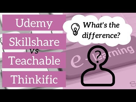 Udemy, Skillshare, Teachable, Thinkific - What's the