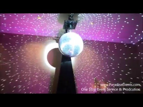 Disco Ball Light Show - Custom Lighting Rental @ Vancouver Terminal City Club