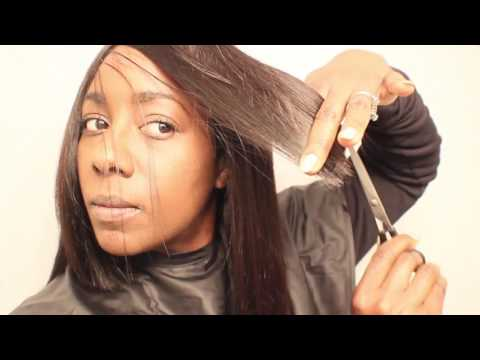 PART 4 0F 6| How to Cut the Side Sweep Bang | MYFIRSTWIG | BEAUTYCUTRIGHT