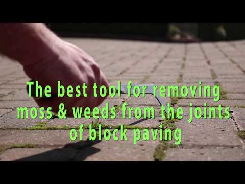 Weed removal tool for block paving.