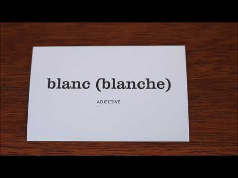 Learn French with Vincent # Flashcards on my table # Part 13