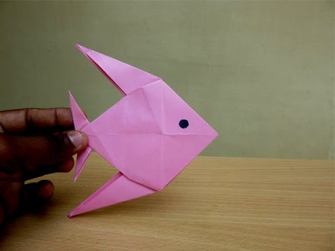 How to Make a Paper Fish - Easy Tutorials