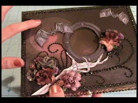 Halloween Altered Cigar Box