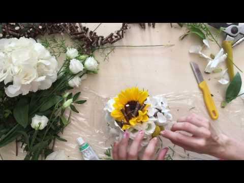 Sunflower Bridal Bouquet - Anna Mazzucato Floral Designer