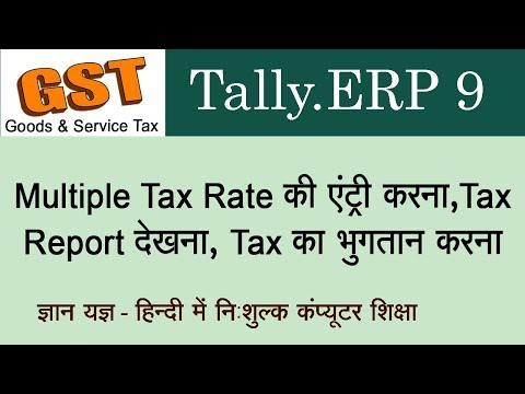 Doing Multiple Tax Rate Entries & Tax Payment In Tally.ERP 9 For GST Purpose In Hindi - Lesson 4