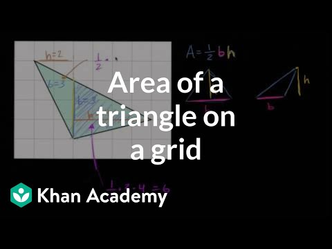 How to find the area of a triangle on a grid | Geometry | 6th grade | Khan Academy