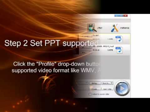 How to Convert MP4 to PowerPoint 2013/2010/2007/2003