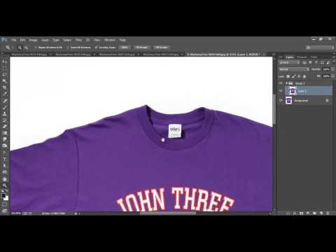 Photo Manipulation- Removing tag from Cloth - image using Photoshop