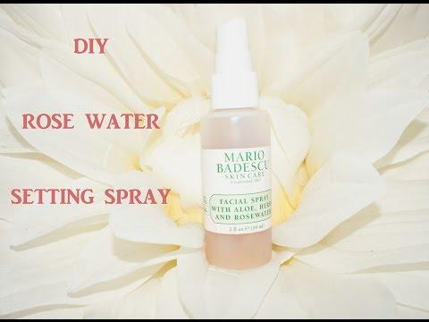 DIY Mario Badescu Setting Spray   Rose Water Makeup Spray