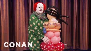 Butterscotch The Clown & His Balloon Wife Return To Defend Clowns  - CONAN on TBS