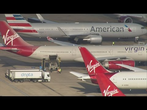 Virgin flight returns to Heathrow after laser shone into cockpit