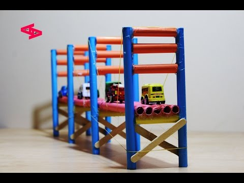 How to make a Bridge from paper and Popsicle Stick  | Easy Tutorial