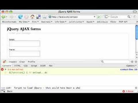 jQuery AJAX forms