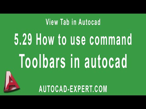 5.29 How to use command Toolbars in Autocad? For Beginners.