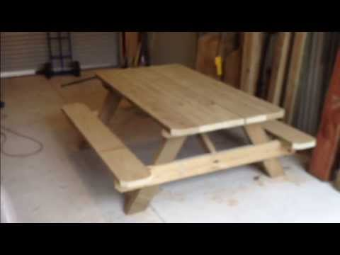 Making a solid outdoor picnic table