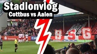 Energie Cottbus auf dem Weg zum KLASSENERHALT gegen VfR Aalen | Stadionvlog / Stadion Vlog