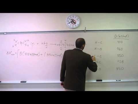 Calculate Standard Enthalpy of Reaction (∆H°rxn) From Bond Dissociation Energy (D) 001