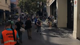 Raw: Barcelona Tense After Van Hits Crowd