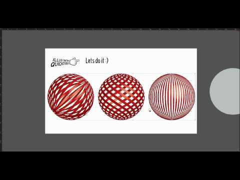 illustrator quick tutorial - How to make graphic 3D sphere