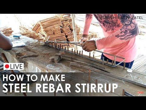 Rebar / Reinforcement Stirrups for concrete beam I How to Make Handmade Steel Stirrups