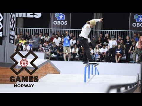 Jaakko Ojanen is your top Men's Skateboard Street Nordic Qualifier   X Games Norway 2018