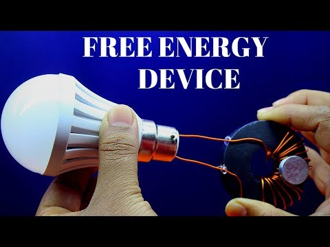 Free Energy Gegerator Using Copper Wire Light For Lifetime - Free Energy Device Using Magnet