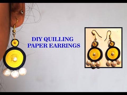 Easy & Simple DIY Quilling Earrings With PearlsNew/Parna's Beauty World