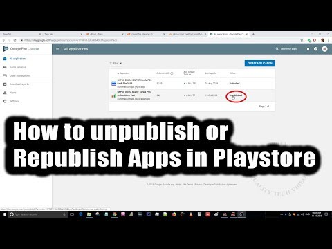 How to Unpublish or Republish Application from Play Store / Google Play Console