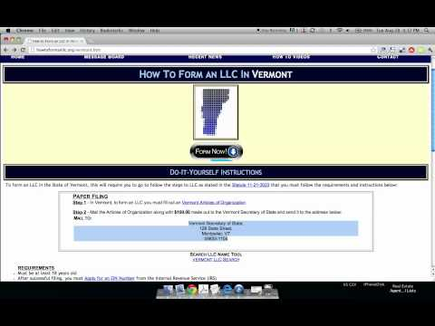 How to Form an LLC in Vermont