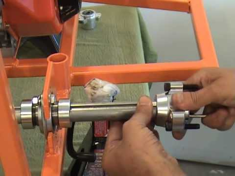 Instaling Rear Wheel Hubs On A Bar Stool Racer By www.barstoolracerplans.com