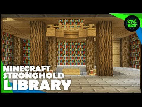 How To Transform a Minecraft STRONGHOLD | The Libraries!