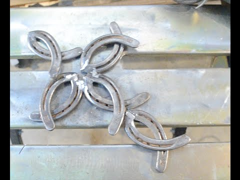 Cross From Horseshoes - Welding Project