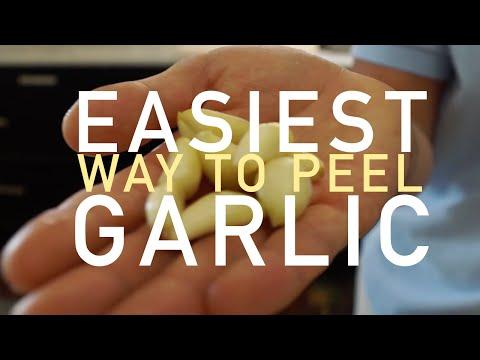 Easiest way to Peel Garlic- BenjiManTV
