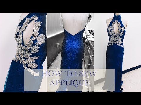 How to sew on and cut appliqué