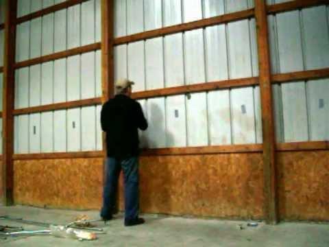 Removing pole barn siding
