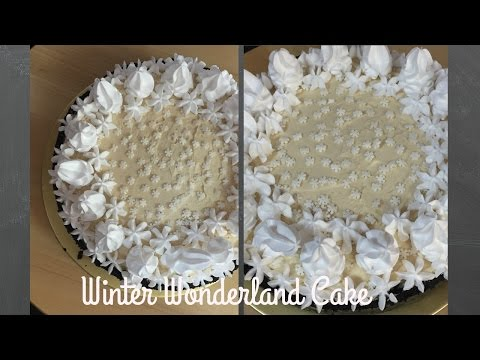 Winter Wonderland Cake | No Bake | Bakemas Day 23