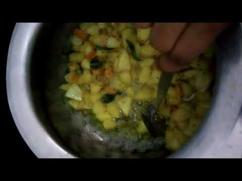 How to Prepare Andhra Style Potato Curry in Telugu | Aloo Kurma Recipe