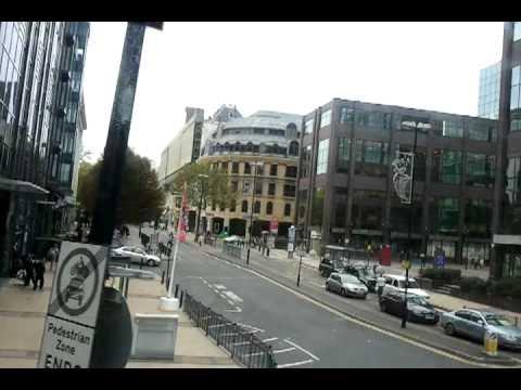 Birmingham City Centre by Bus via Colmore Row