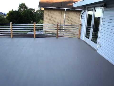 custom deck railing metal conduit