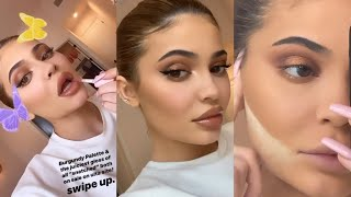 Kylie Jenner Doing her Makeup with Kylie Cosmetics