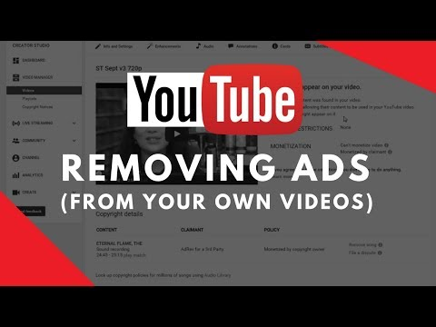 How to remove ads from your YouTube videos