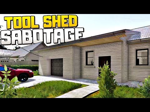 WE DESTROYED OUR EVIL CLIENT'S SECRET SHED AND STOLE HIS MONEY - House Flipper Gameplay