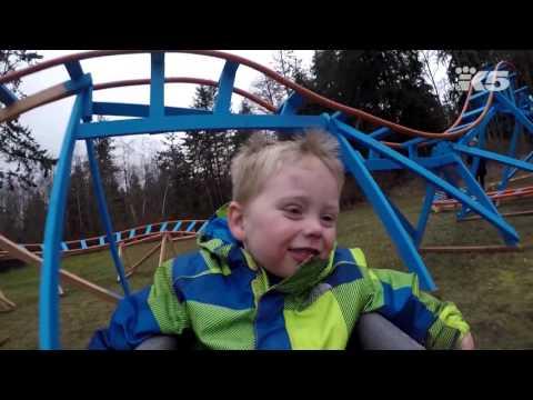 Oak Harbor dad builds backyard roller coaster for son