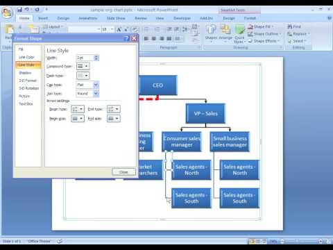 Office 2007 Demo: Format lines in your SmartArt graphic
