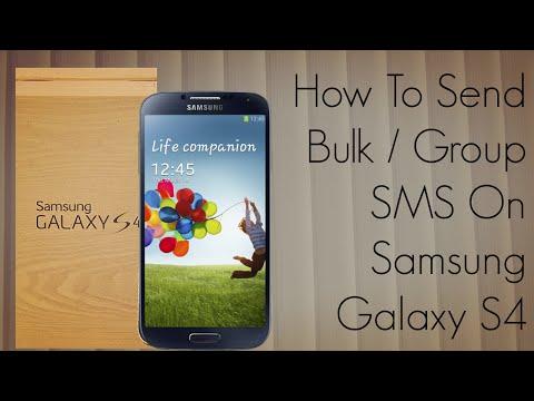 How To Send Bulk / Group SMS On Samsung Galaxy S4 Smart Phone - PhoneRadar