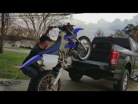 How to load a dirtbike without ramps the easy way