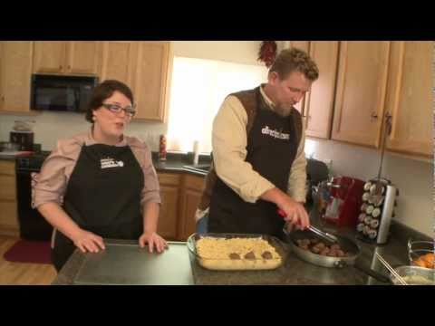 Southwestern Macaroni and Cheese with Adobo Meatballs Recipe