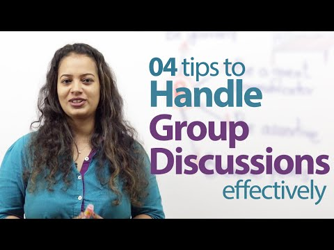 04 tips to handle Group Discussions effectively - Free English lessons