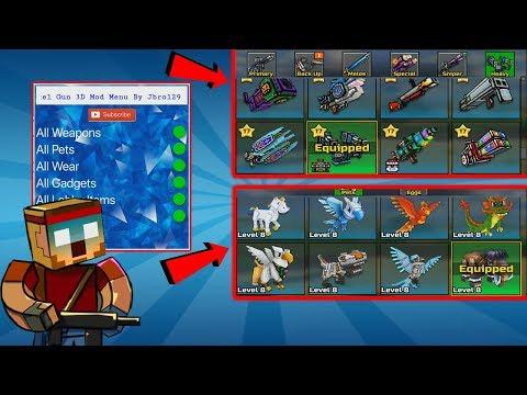 pixel gun 3d mod menu apk 2018